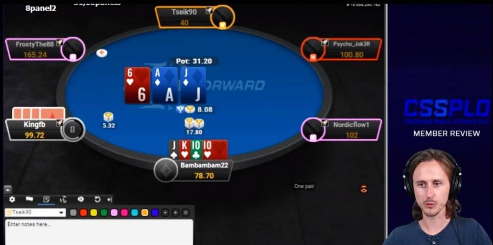 A screenshot from the Crushing Small Stakes PLO course, by Luuk Botter for the PLO Mastermind.