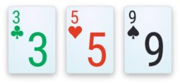 A flop in Pot-Limit Omaha.