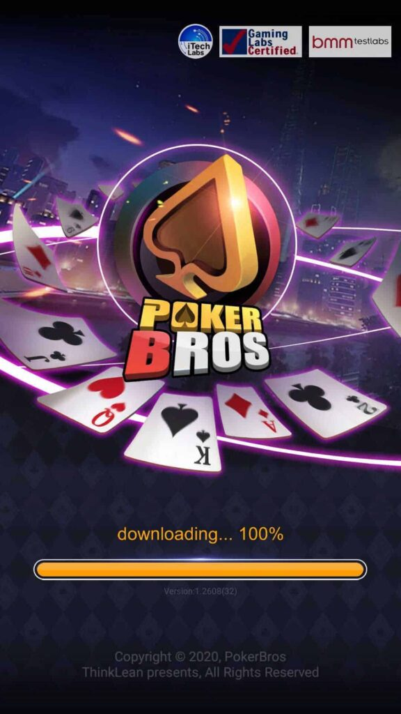 PokerBros title screen