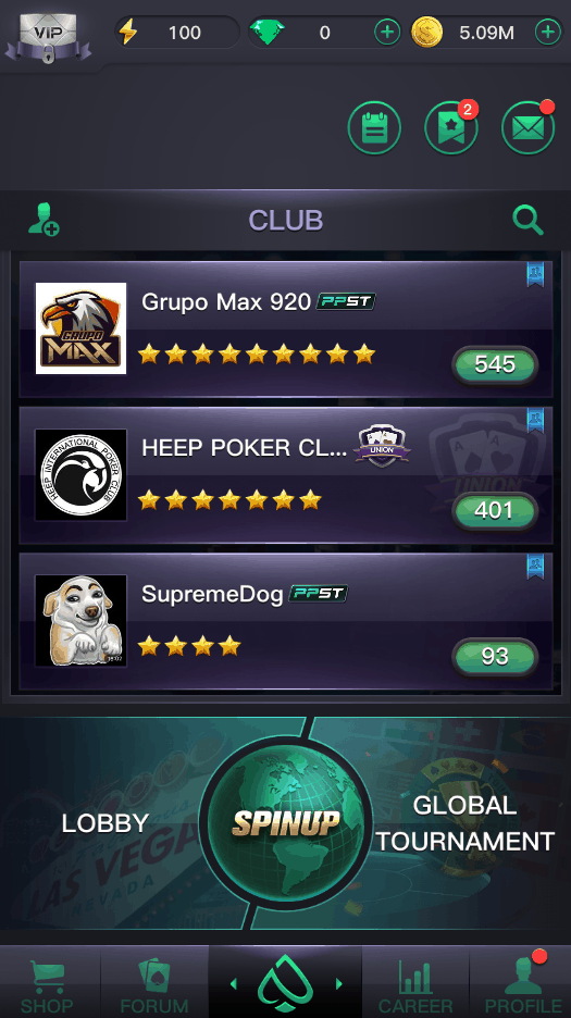 PPPoker Lobby