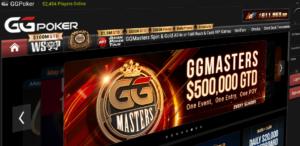 GGPoker app home screen