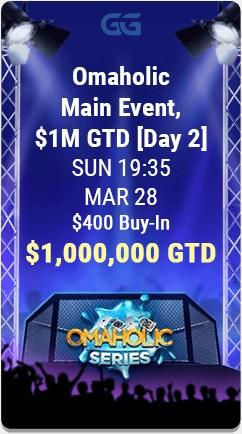 GGPoker's Omaholic Tournament Series $400 Main Event.