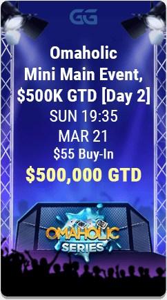 GGPoker's Omaholic Tournament Series $55 Mini Main Event.