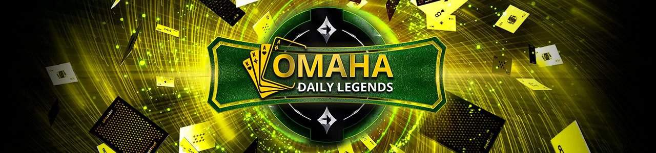 The banner for PartyPoker's Omaha Daily Legends.