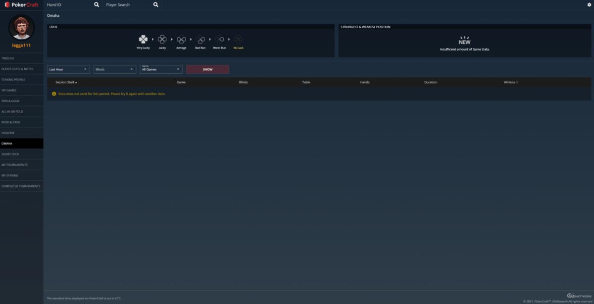 GGPoker's PokerCraft main screen